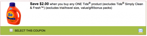 SmartSource Canada Coupon for any Tide product