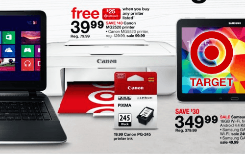 If you want a cheap printer for printing coupons, Target have a great