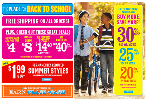 The Children's Place Coupon Code, Coupons November