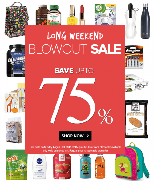 long weekend blowout sale