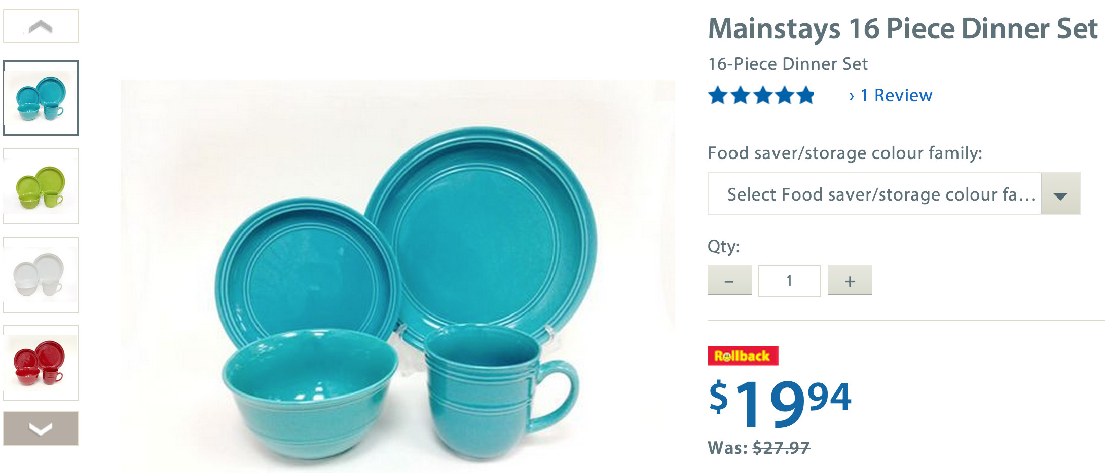 mainstays-16-piece-dinner-set  sc 1 st  Smart Canucks & Walmart.ca Deals: Mainstays 16-Piece Dinner Set $19.94 | Canadian ...