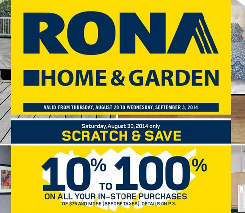 rona scratch and save