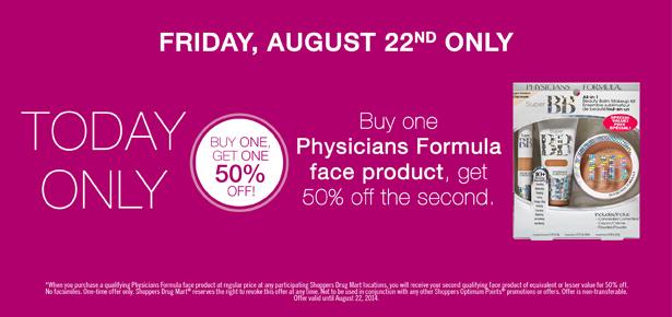 shoppers beauty deal august 22