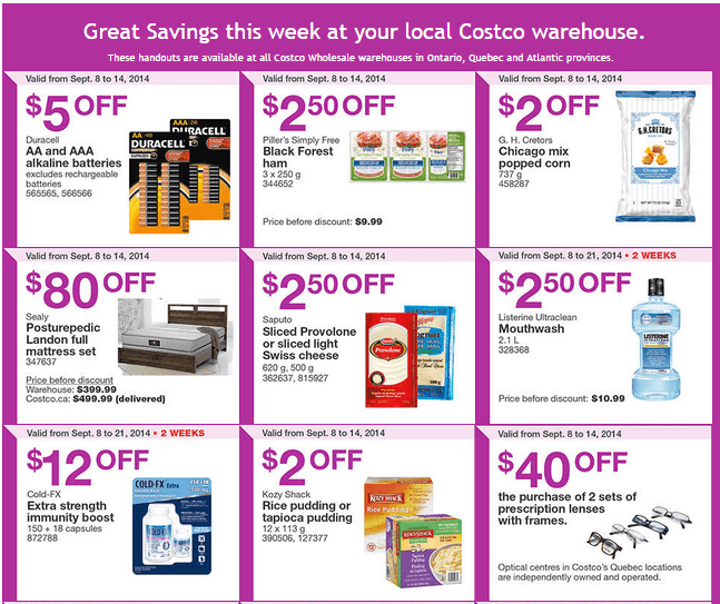 Savings Handouts Flyers Costco Canada Weekly Instant Handouts Coupons