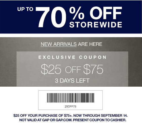Gap factory coupon code