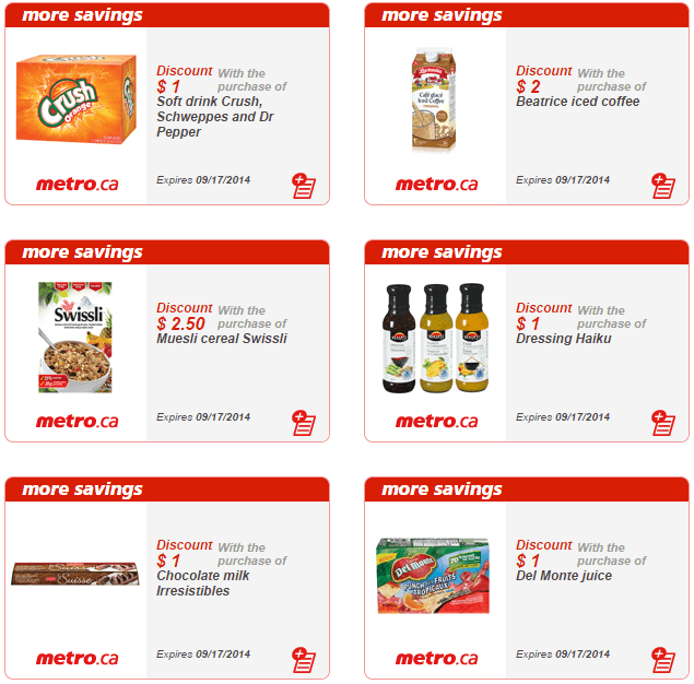 Print grocery coupons canada