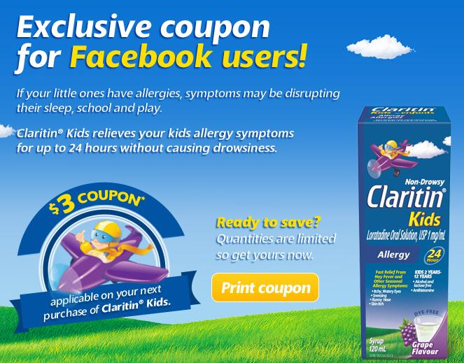 photograph regarding Claritin Printable Coupon identify Canadian Discount coupons: Help you save $3 upon Claritin Young children *Printable Coupon