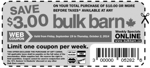 bulk barn 500x226 Bulk Barn Canada New Coupons: Save $3 when You Spend $10