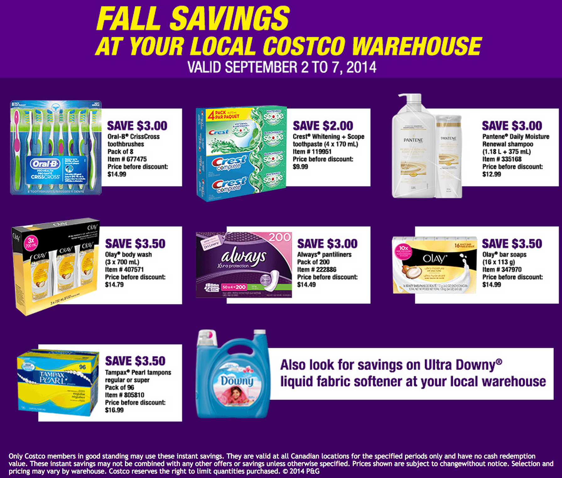 Procter and gamble coupons september 2019