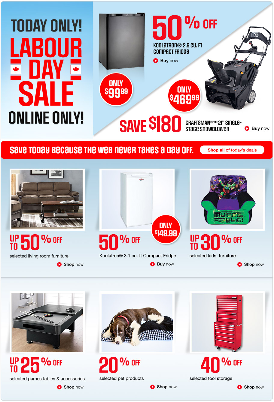 Sears Canada Online Labour Day Sale Save Up To 50 Off