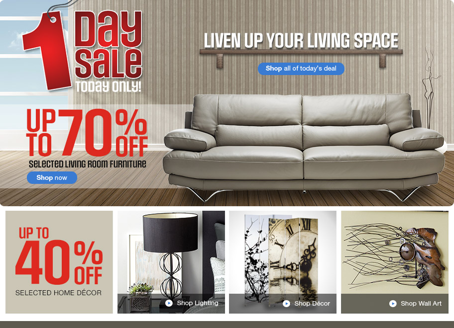 Sears canada one day sale save up to 70 off selected for Home decor items on sale