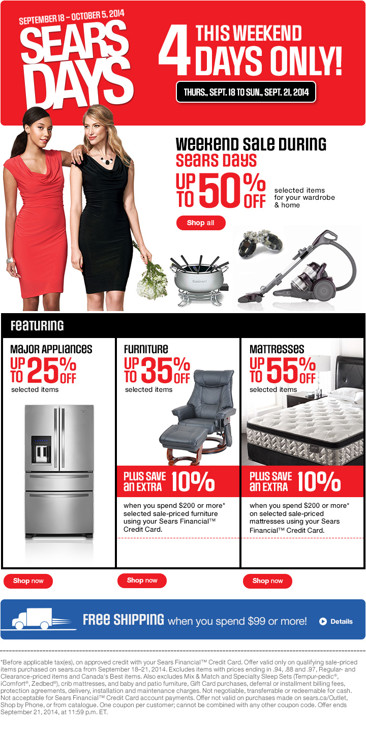 Nov 08,  · To lure shoppers inside its doors, the company is offering Black Friday sales such as an $ Kenmore French-door refrigerator at Sears, representing a 55 percent discount, and a .