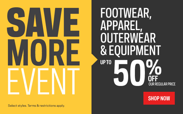 Up to 50 off regular priced footwear apparel and more as well as buy