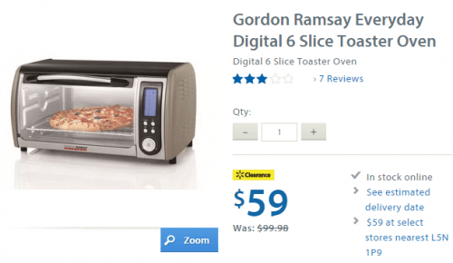 Countertop Convection Oven Canadian Tire : Canada Clearance Deal: Gordon Ramsay Everyday Digital 6 Slice Toaster ...