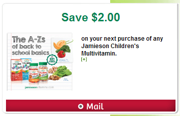 canadian coupons mailed to your home