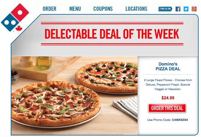photograph regarding Printable Dominos Coupons titled Printable dominos discount coupons canada : Coupon unpleasant gal