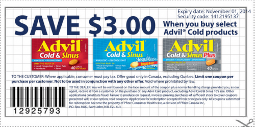 graphic regarding Advil Printable Coupon referred to as Advil Canada Printable Coupon: $3 Off and Advil Sale at