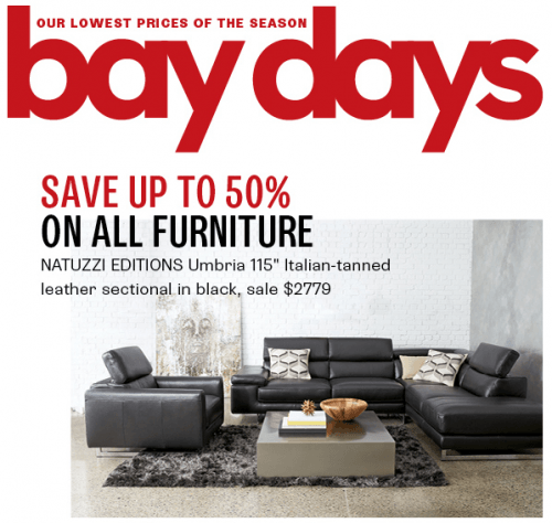 Hudson S Bay Canada Bay Days Sale Save Up To 50 Off All
