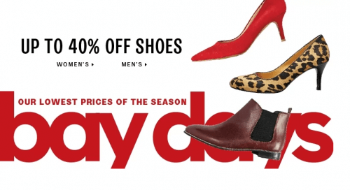 Hudson Bay Ladies Shoes Sale