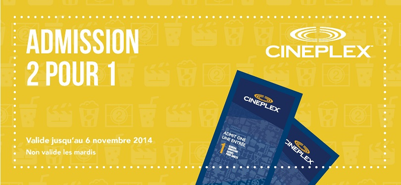 Cineplex Promo Codes Cineplex (coolnupog.tk) operates more than theatres across Canada. They also run online store deals on digital downloads and the SCENE loyalty program. Find family movie deals, extra points and promo codes on this page to save on your next movie experience at Cineplex.