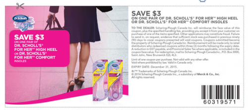 image about Dr Scholls Inserts Coupons Printable called Refreshing Dr. Scholls Canada Printable Discount codes: Help save upon Dr