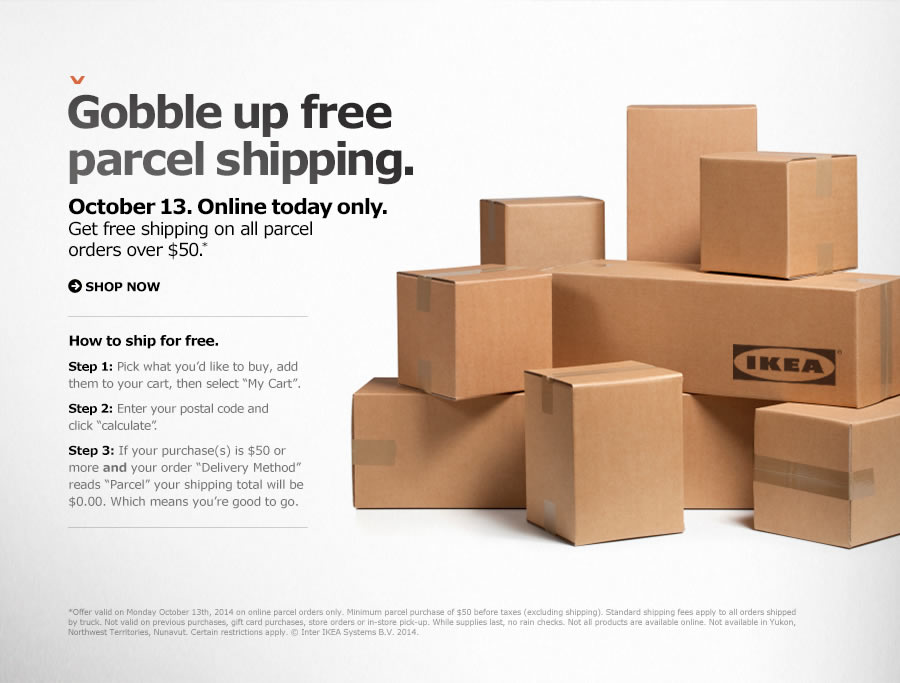 ikea canada thanksgiving offers get free shipping on