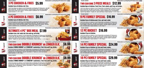 graphic regarding Kfc Printable Coupons named KFC Canada Clean Printable Coupon codes! Canadian Freebies