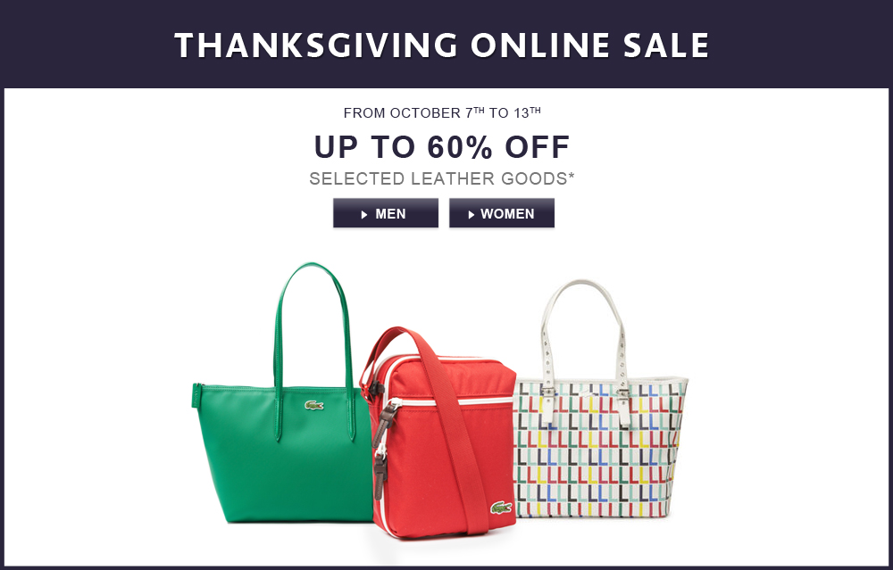 ee6121f379 Lacoste Canada Thanksgiving Sale: Save up to 60% Off Select Leather ...
