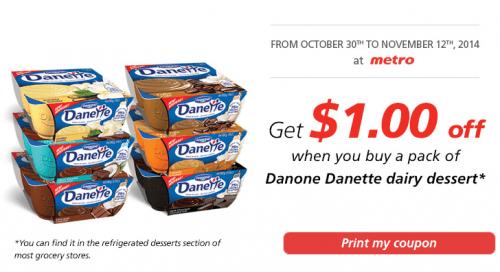 metro danette facebook coupon