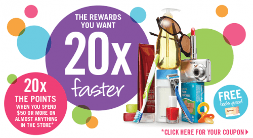 sdm20xoct8 500x274 Shoppers Drug Mart Printable Coupons: Get 20X Optimum Bonus Points when You Spend $50 on Wednesday, October 8th