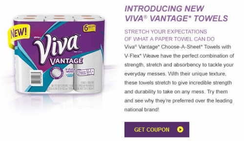 viva vantage paper towels coupon