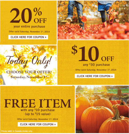 Bath & Body Works Canada Coupons