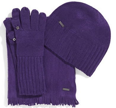CALVIN KLEIN Three Piece Hat Glove and Scarf Set at The Bsy