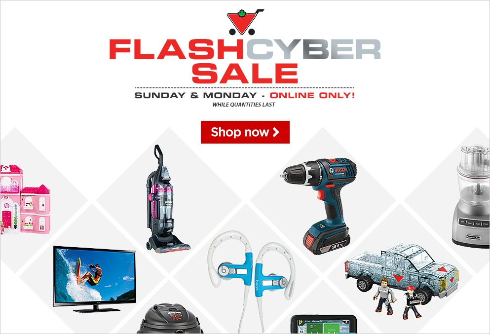 Canadian Tire Flash Cyber Monday 2014 Sale Save Up To 70