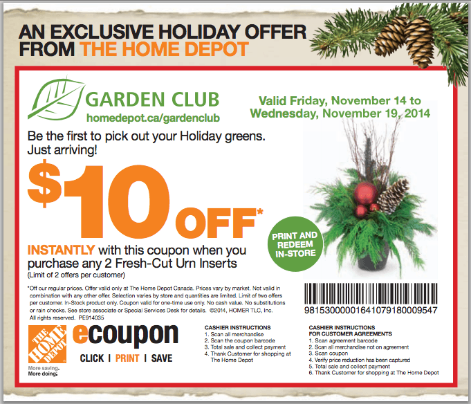 The Home Depot Canada Garden Club Coupons Save 10 When