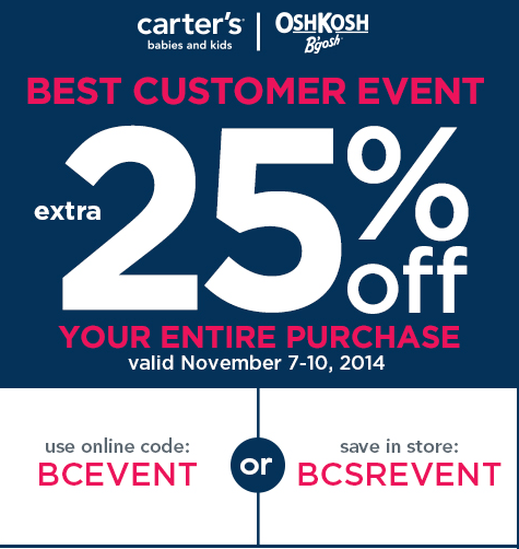 picture relating to Oshkosh Printable Coupon identified as Carters osh kosh printable discount codes canada / Jacksonville