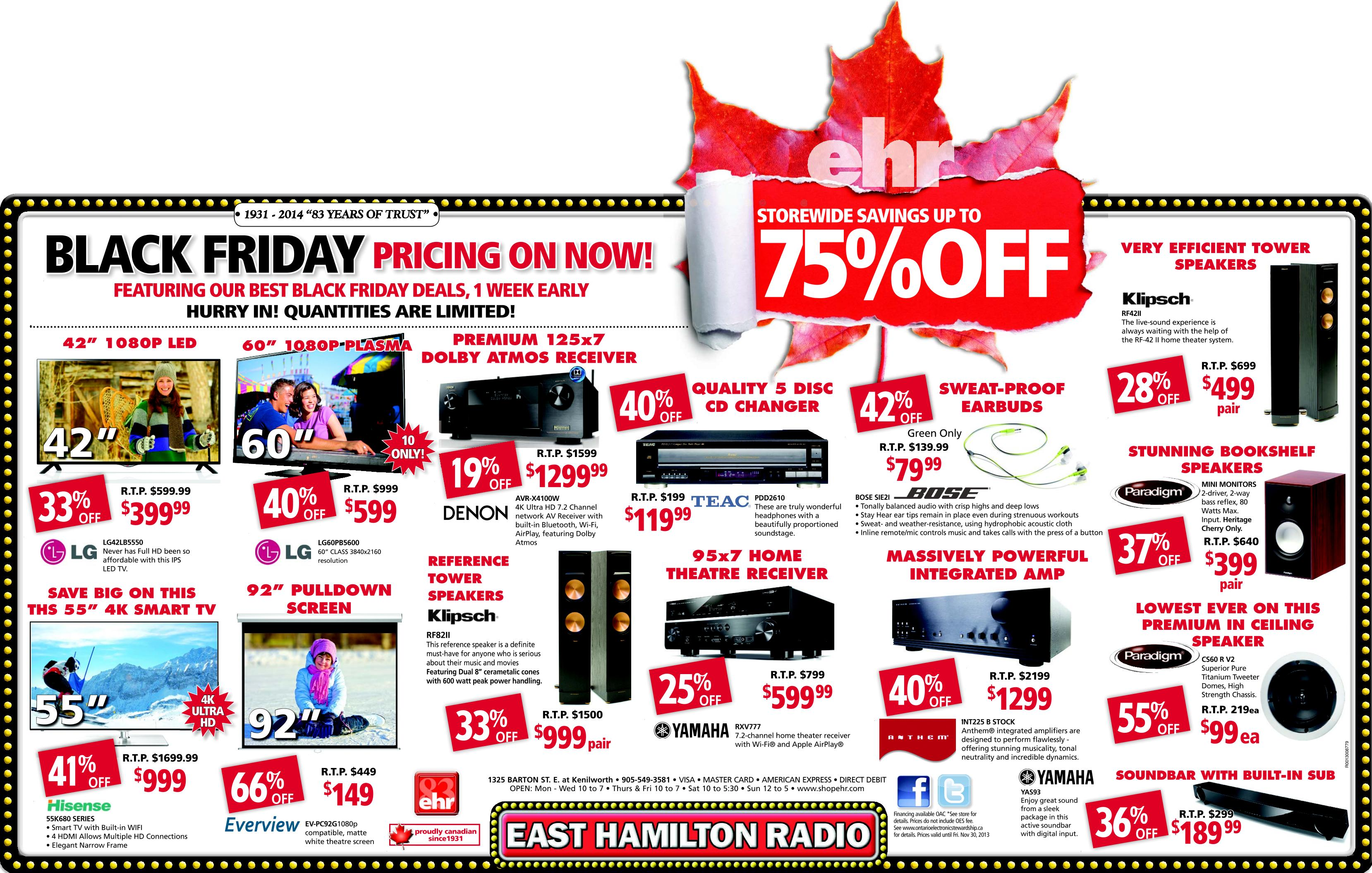 east hamilton radio black friday canada 2014 flyer sales and deals storewide savings of up to 75 off