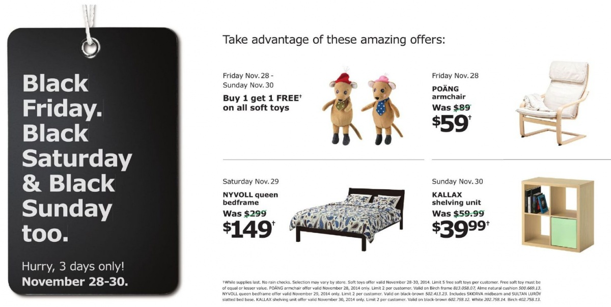 Ikea Black Friday Canada 2014 Offer Buy One Get One Free
