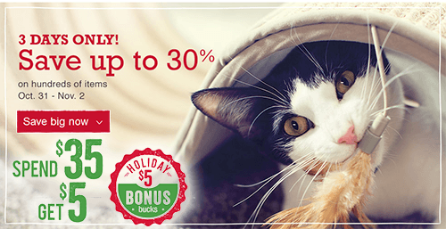 Petsmart Canada Holiday Bonus Get A 5 Coupon When You Spend 35