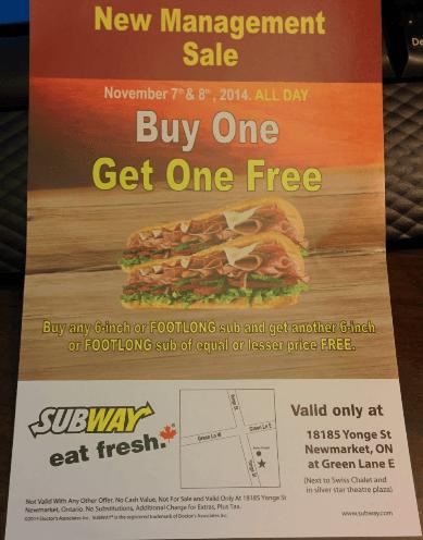 Restaurant coupons ontario canada