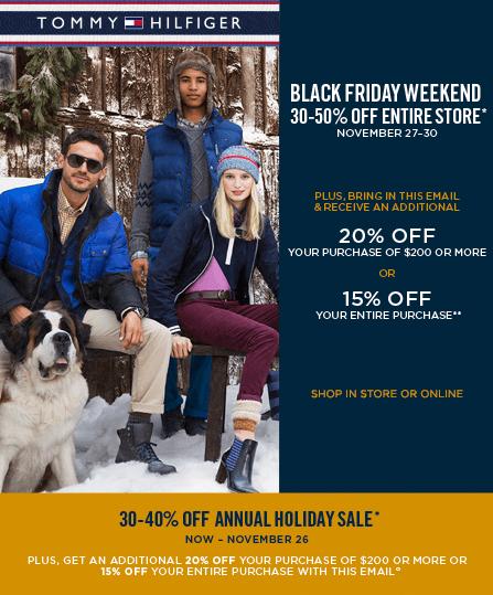 94f0173f6c6 Tommy Hilfiger Canada Black Friday 2014 Sale: Save 30% – 50% Off ...