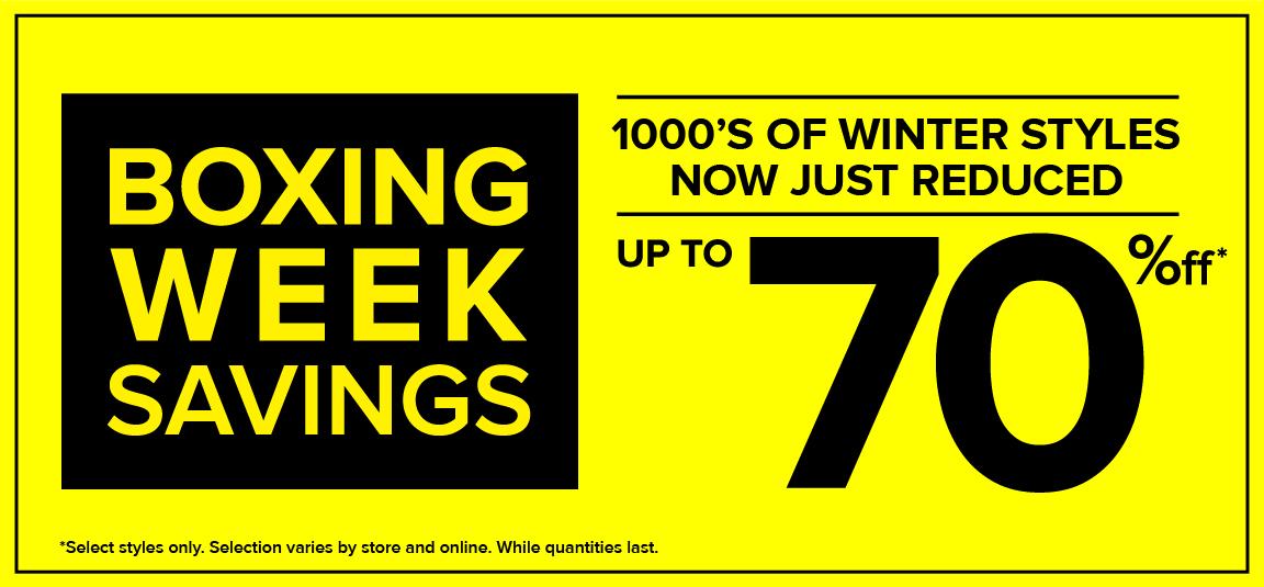 The Shoe Company Boxing Week Sale 70