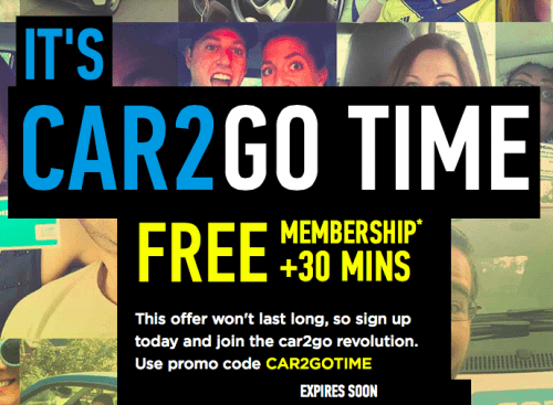 Car2go Canada Promo Code Deal Sign Up Now And Get Free Membership