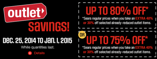 Sears Canada Boxing Day Deals