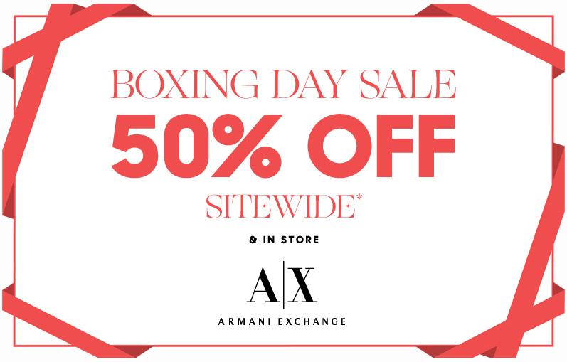 Armani exchange online coupons 2018