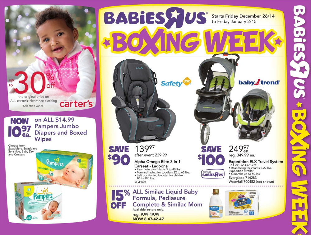 Babies R Us Canada Boxing Week 2014 Flyer Sales And Deals