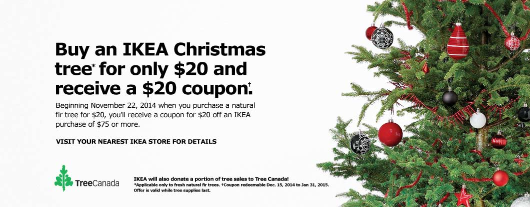 Ikea Canada Christmas Deals Receive A Free 20 Coupon When You Buy