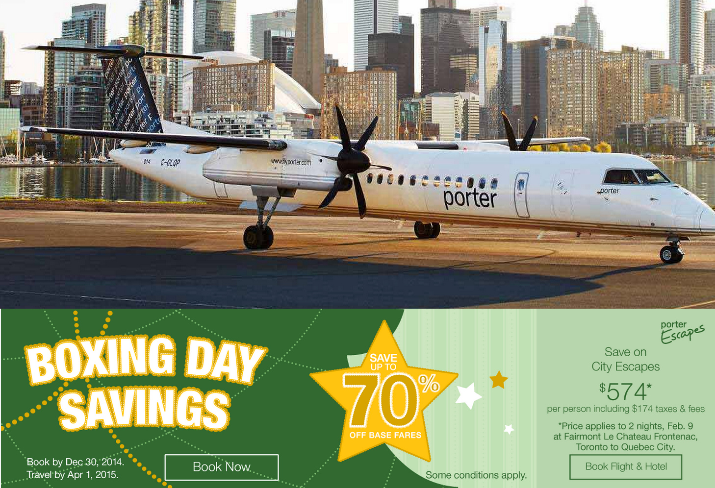 Porter airlines boxing day sale flight tickets up to 70 off canadian freebies coupons - Porter airlines book flights ...