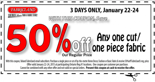 Fabricland canada coupons for 3 days only save 50 off for American frame coupon code