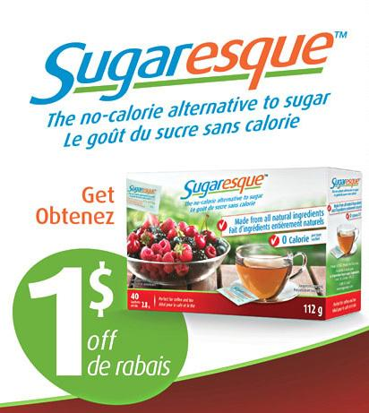 Canadian coupons save 1 on sugaresque printable coupon for Gardening naturally coupon
